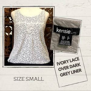 Kenzie Sleeveless Top with lace shell
